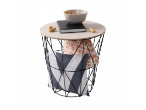 Příruční stolek NANCER TYP 3 - přírodní/černá