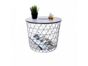 Příruční stolek BATIS TYP 2 - grafit / černá