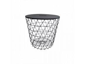 Příruční stolek BATIS TYP 3 - grafit / černá