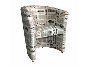Křeslo CUBA - vzor noviny