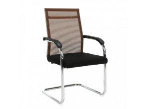 Konferenční židle ESIN - hnědá / černá