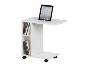 Příruční stolek NIDEN - bílý
