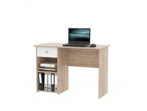PC stůl KARLIS - dub sonoma / bílá