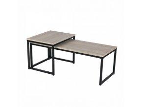 Set dvou konferenčních stolků KASTLER TYP 2 - dub/černá