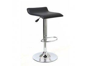 Barová židle LARIA NEW - eko kůže černá/chrom