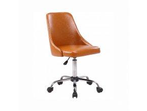Kancelářská židle Ediz, hnědá/ chrom