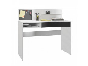 PC stůl IMAN - bílá/černá
