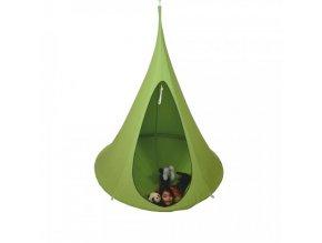 Závěsné houpací křeslo KLORIN NEW CACOON HAMMOCK, zelená KIDS