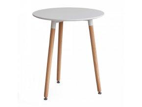 Jídelní stůl ELCAN 60 - bílá/buk