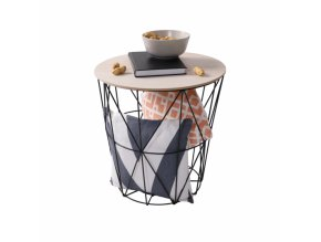 Příruční stolek NANCER TYP 1- přírodní/černá