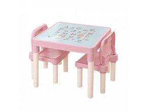 Dětský set BALTO 1+2, růžová/korálová
