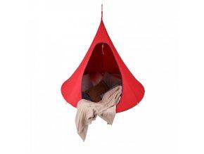Závěsné houpací křeslo KLORIN NEW CACOON HAMMOCK, červená KIDS