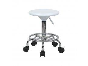 Židle MABEL 3 NEW - bílá/chrom