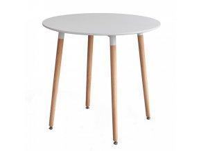 Jídelní stůl ELCAN 80 - bílá/buk