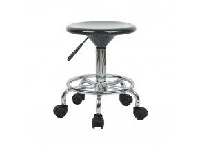 Židle MABEL 3 NEW - černá/chrom