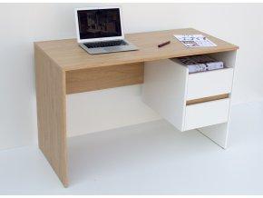 Pracovní stůl OMENA 2S, barva sonoma/bílá