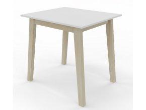 Jídelní stůl CARLOS 80x80 buk/bílá