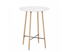 Barový stůl IMAM - bílá/dub