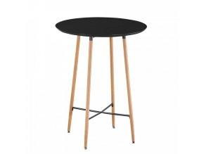 Barový stůl IMAM - černá/dub