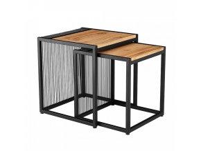 Set dvou konferenčních stolků RIMBO - dub/černý