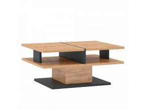 Konferenční stolek FIDEL T - dub craft zlatý/grafit šedá