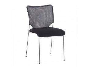 Konferenční židle ALTAN - černá/chrom