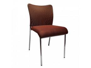 Konferenční židle ALTAN - hnědá/chrom