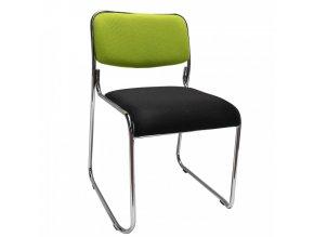 Konferenční židle BULUT - zelená/černá