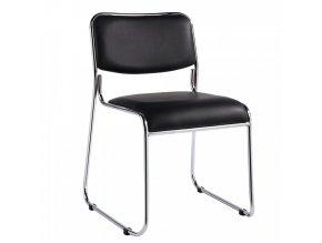 Konferenční židle BULUT - černá ekokůže