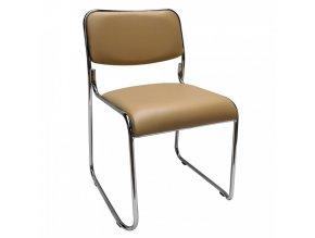Konferenční židle BULUT - hnědá ekokůže