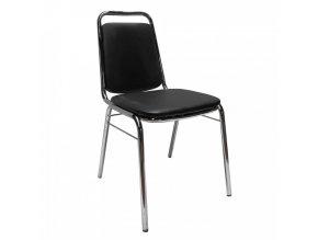 Konferenční židle ZEKI - černá ekokůže