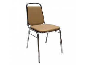 Konferenční židle ZEKI - hnědá ekokůže