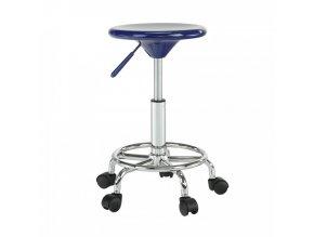 Židle MABEL 3 NEW - modrá/chrom