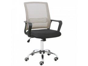 Kancelářská židle APOLO - šedohnědá Taupe/černá