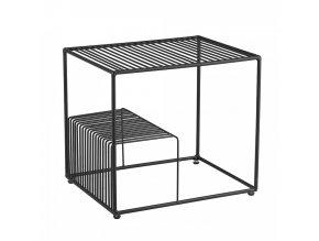 Příruční stolek WILOV - černá/kov