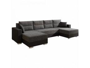 Univerzální sedací souprava ESSEN - černá/černý melír