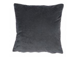 Polštář ALITA TYP 8 - samet tmavě šedý