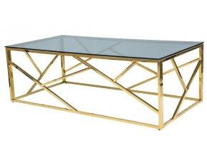 Konferenční stolek ESCADA A zlatý kov/kouřové sklo