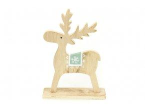 Dřevěná vánoční dekorace sob KLA473
