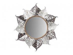 Kovová nástěnná dekorace se zrcadlem FB-1459