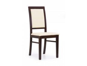 Jídelní židle SYLWEK 1 - ořech/ekokůže Cayenne 1112