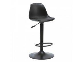 Barová židle DOBBY - černá - II.jakost