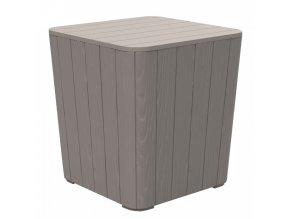 Zahradní úložný box / příruční stolek IBLIS, šedá