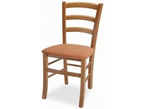 Jídelní židle Venezia - látka Micra beige/ Rustikal - II. jakost