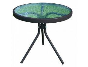 Zahradní konferenční stolek HABIR - ocel / tvrzené sklo