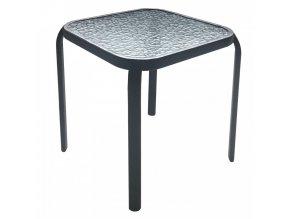 Zahradní konferenční stůl RAMOL - ocel / tvrzené sklo