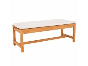 Dřevěná zahradní lavice VEATA - přírodní/béžová