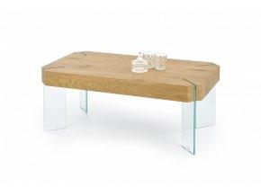 Konferenční stolek CAPELA - dub zlatý/sklo