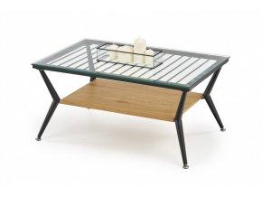 Konferenční stolek FELINA - dub zlatý - černá