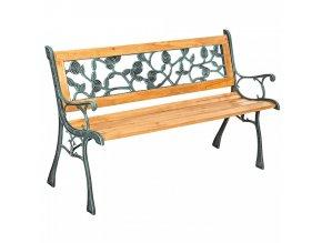 Zahradní lavička FAIZA - černá/přírodní